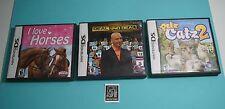 Nintendo DS Game Bundle E Rated - I Love Horses/ Petz Catz 2/ Deal or No Deal