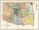 1887 Map of Native American Indian Territory Tribes Oklahoma 11'x15' Art Print