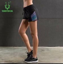 Vansydical Womens Running Shorts Fitness Yoga Sports Shorts Quick Dry size XL