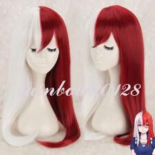 Red Silver White Mixed My Hero Academia Todoroki Shoto Anime Cosplay Wig