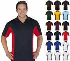 Mens Contrast Polo Shirt 7PP | Casual, Top, Team Wear, Sports, Polyester