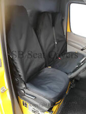 TOYOTA HIACE VAN SEAT COVERS WATERPROOF BLACK FABRIC 1 SINGLE AND 1 DOUBLE