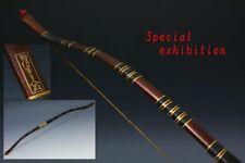 Japanese Antique Edo gold yumi bow child yoroi Koshirae samurai tsuba katana 武将