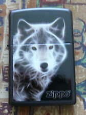 ANIMALS WHITE WOLF ZIPPO LIGHTER FREE P&P FREE FLINTS