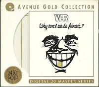War Why can`t we be Friends 24 Karat Gold CD Avenue Gold Collection Cut Out