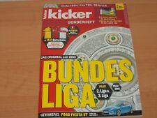 Kicker Sonderheft + Stecktabelle + Spielplan-Poster für 1. & 2. Liga 2018/2019