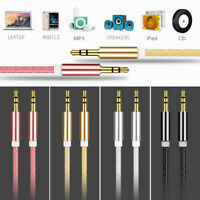 3.5mm Jack Male to Male Car Aux Auxiliary Cord Stereo Audio Cable 3ft For Phone