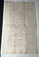 "Original Period 1756 FAIR Copy of Benjamin Franklin Letter ALS ""Act of God"" RARE"