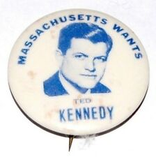 1972 TED KENNEDY MASSACHUSETTS campaign pin pinback button political president