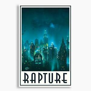 Bioshock - Welcome to Rapture: Skyline; Gaming Poster, Unframed, Gaming Decor
