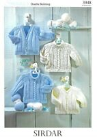 Sirdar Double Knitting Pattern 3948, Jumpers and Cardigans for 0-6yrs