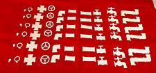 Tim Holtz Pipeline Die Cuts *  WHITE Cardstock * 54 Pieces * Steam Punk!
