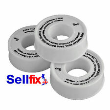 2X PTFE Thread Sealing Tape 12mm x 12m x 0.075mm WRAS APPROVED
