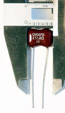 5x Silver Mica Capacitor 2700pF 500V 5% ARCO USA AE CM06FD272JO3 .0027uf