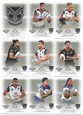 2018 NRL Elite New Zealand WARRIORS 9 Card Mini Team Set