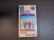 """USED  VHS Movie     """"RARE""""   """"NEW KID ON THE BLOCK""""   IN STEP OUT OF TIME  """"G"""""""