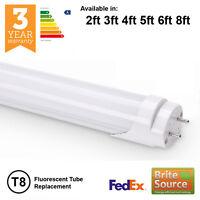 LED T8 T12 LAMPADA FLUORESCENTE RICAMBIO 2ft 3ft 4ft 5ft 6ft 18w 30w 36w 58w 70w
