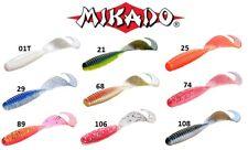 5PCS TWISTER MIKADO 57MM SOFT LURE BAIT CURLY TAIL PREDATOR PIKE SALMON PERCH