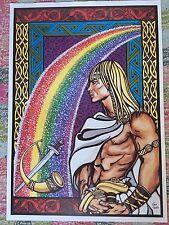 Viking A2 Large Poster Heimdall bridge of Light Thor Pagan Volkish Valhalla Odin