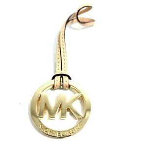 Michael Kors Brown Leather Charm Tag Handbag Gold Metal Replacement