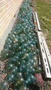 "JAPANESE GLASS Fishing FLOATS Lot-10 4-5"" Round Buoy BALLS Authentic Vntg"