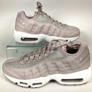 Women's Nike Air Max 95 Shoes Rose Glitter Sparkle AT0068 600 Running Size 7