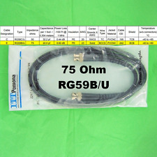 Pomona 2249E36 BNC(M) to BNC(M) 75 Ohm RG59B/U Coaxial RF Broadcast Video Cable