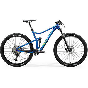 """MERIDA 29"""" MTB Fully Mountainbike ONE-TWENTY RC 9. XT EDITION HP1 blau Gr. XL"""