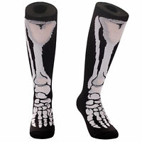 SAMSON® SKELETON LEG KNEE HIGH SOCKS BONE HALLOWEEN FOOTBALL NOVELTY PARTY FUNKY