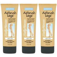 3 x Sally Hansen Airbrush Legs Makeup Look Lotion - Instant Natural Tan - Light
