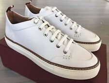 $550 Bally Hernando White Leather Sneakers size US 11
