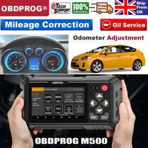 OBDPROG M500 Odometer Mileage Correction Adjust ODO OIL OBD2 Diagnostic Tool UK