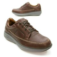 Clarks Men's 12 W Wide Unstructured Brown Leather Lace-up Comfort Moc Oxford