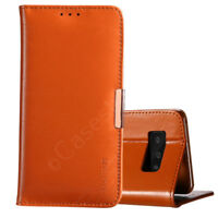 Fits Samsung Galaxy Note 8 Premium Genuine Real Leather Stand Flip Case Cover
