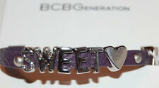 NWT BCBGeneration Purple Canvas-Silver Metal SWEET Bracelet *Buy 1 & Get 1 Free*