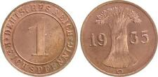 Weimar 1 Reichspfennig 1935 G  Polierte Platte