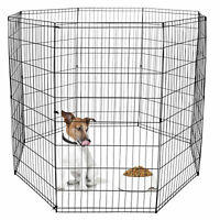48 Inch Folding Metal Pet Playpen Exercise Dog Playpen Crate Fence Kennel Cage