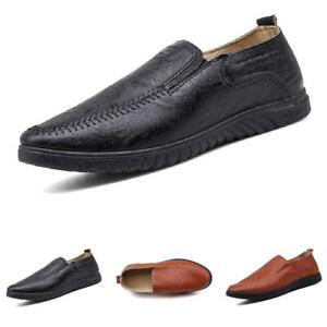 Mens Faux Leather Pumps Slip on Loafers Shoes Driving Moccasins Flats Casual D