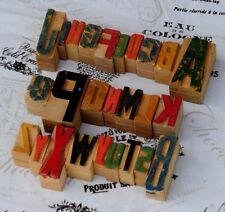 A-Z MIX Alphabet Holzlettern Plakatschrift Lettern characters wood type printer