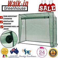 Vidaxl Walk In Greenhouse Garden Plant Cover Shade Green House W/ Door & Window