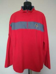 New Florida Panthers Mens Size 2XL Red Majestic 1/4 Zip Pullover