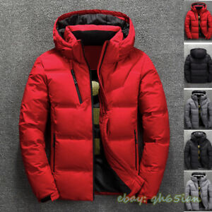 Winter Men's Warm Quilted Duck Down Padded Bubble Puffer Jacket Coat Parka Hot
