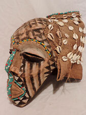 Exquisite Art Africain-une amende Kuba ngady MWAASH africain Masque, Casque tribal art