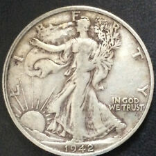 1942-S Liberty Walking Silver Half Dollar U.S. Coin A3874