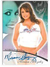 Miriam Gonzalez signed 2007 Benchwarmer trading card #4 of 24