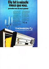 PUBLICITE  1973   THOMSON   lave vaisselle
