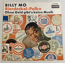 "COVER ONLY - BILLY MO ""Bierdeckel-Polka"" VG++ D Decca SCHLAGER PS"