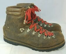 VTG Lowa Germany Men's Size 10 Brown Leather Alpine Mountaineering Hiking Boots