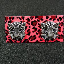New Fashion Betsey Johnson Silver Leopard Lady Ear Stud Earrings Women
