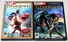 TITAN QUEST DELUXE EDITION & IMMORTAL THRONE ADD ON PC DVD GOLD EDITION ARTBOOK
